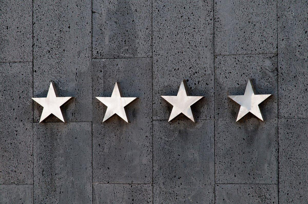 Vásárlói értékeléseknél használt csillagos értékelés megjelenítése